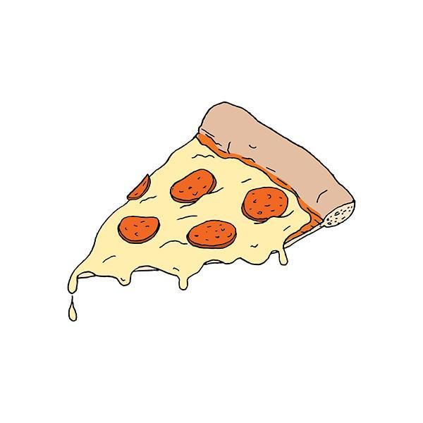 Pizza Slice By Julia Rothman from Tattly - Magnolia Jewels & More