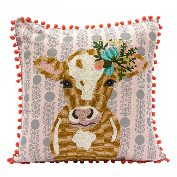 Talented Cow Pillow - Magnolia Jewels & More