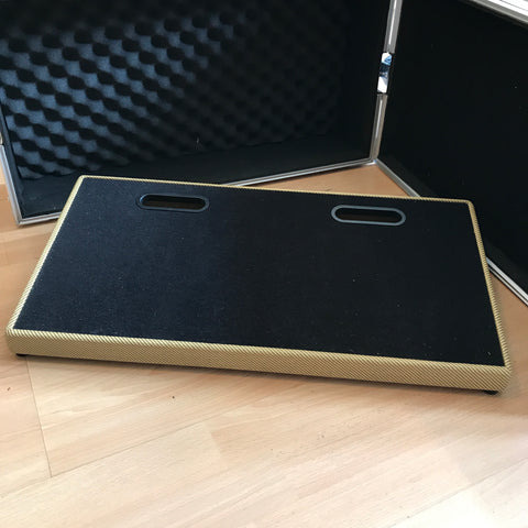 "Blackbird 12x24"" Tweed Pedalboard & ATA Flight Case for sale UK"