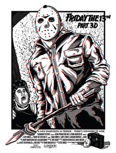 Friday the 13th 3D 18x24