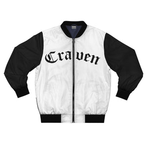 Craven White Bomber Jacket