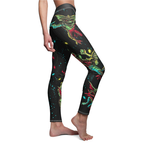 Gremlins Christmas Lights Women's Casual Leggings