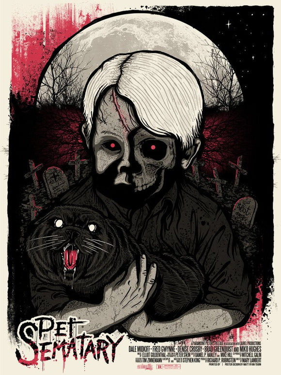 Pet Sematary Limited Edition 18x24 Matty Ryan Tobin