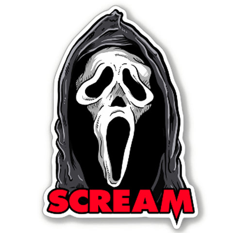 Scream Vinyl Decal