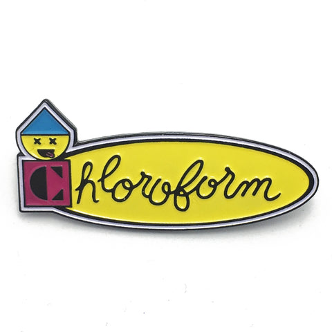 Chloroform Enamel Pin