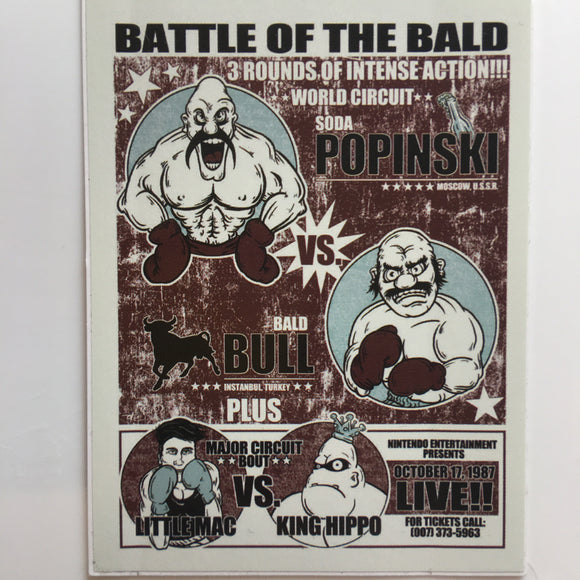 Battle of the Bald Vinyl Sticker