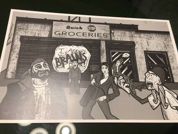 Clerks Cartoon SDCC Exclusive 11x17