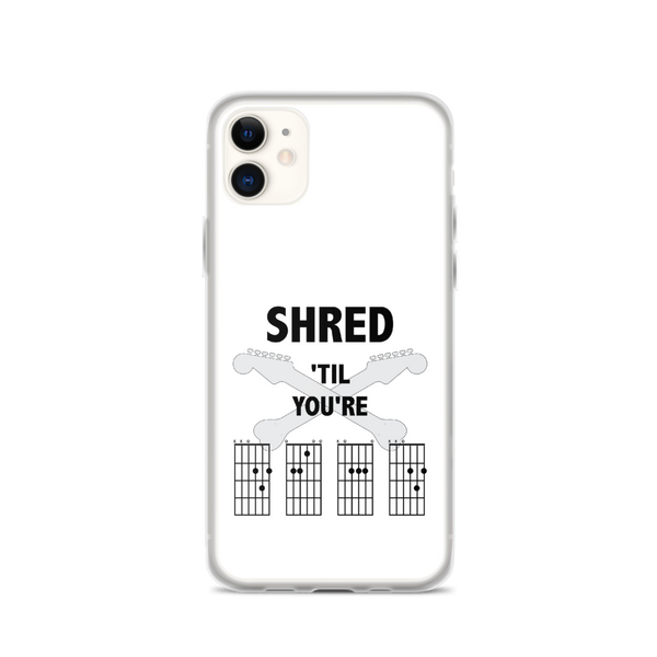 Shred 'Til You're D.E.A.D - iPhone Case - White