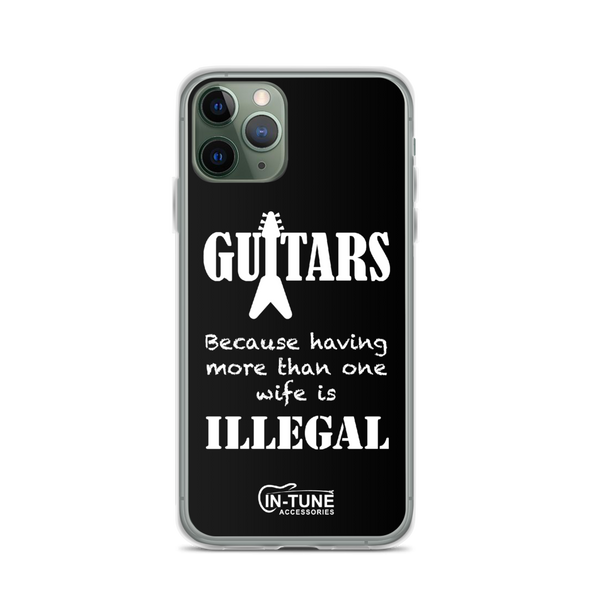 Guitars - iPhone Case - iPhone 11 Pro - Black