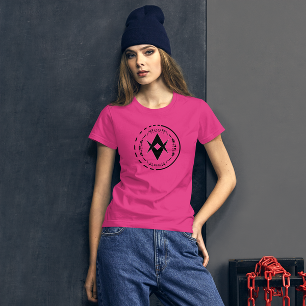 Optic Sounds - Ladies T-Shirt - Hot Pink
