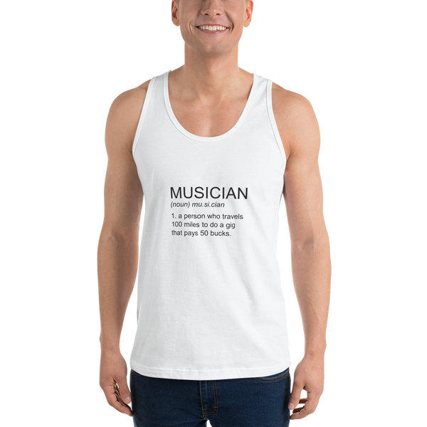 Musician - Unisex Tank Top - Made in USA - White