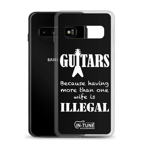 Guitars - Samsung Case - Galaxy S10 - Black
