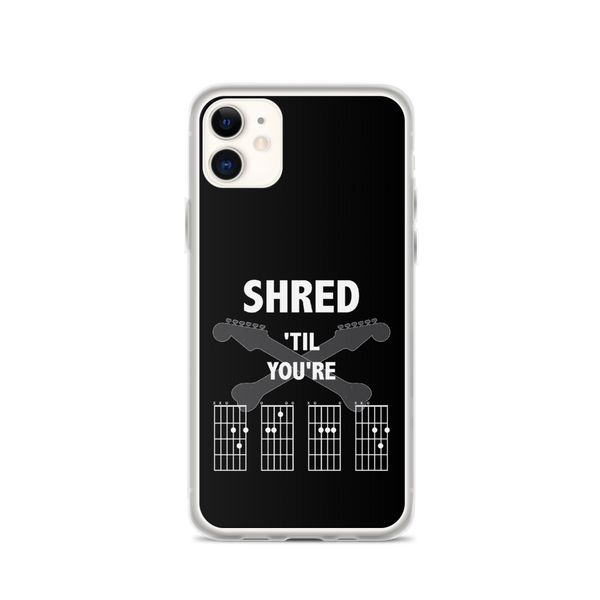 Shred 'Til You're D.E.A.D - iPhone Case - Black