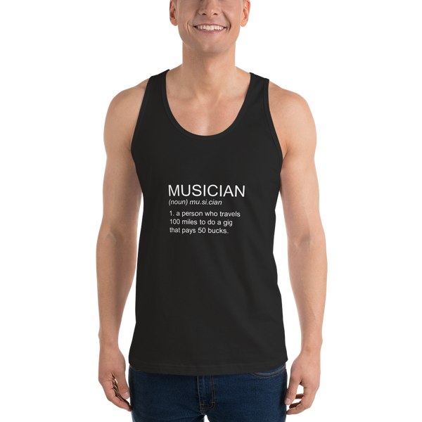 Musician - Unisex Tank Top - Made in USA - Black