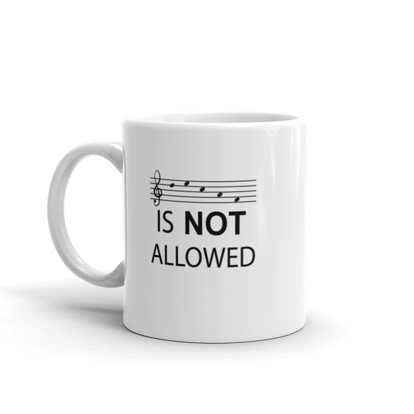 Decaf Is Not Allowed - Ceramic Mug - 11oz - Left Handed
