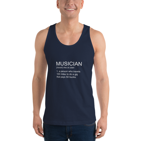 Musician - Unisex Tank Top - Made in USA - Navy