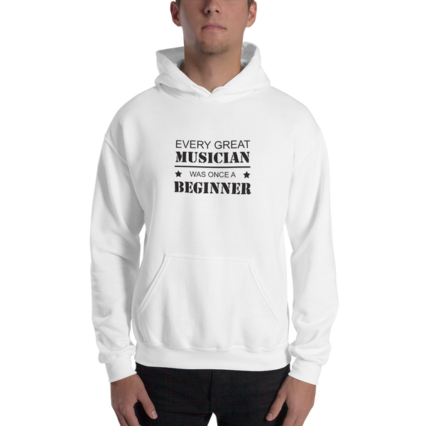 Every Great Musician - Unisex Hoodie - White