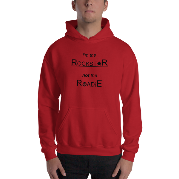 Rockstar Not Roadie - Unisex Hoodie - Red