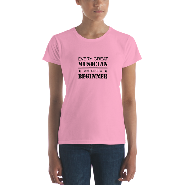 Every Great Musician - Ladies T-Shirt - CharityPink