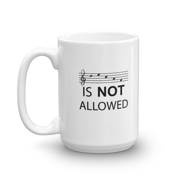 Decaf Is Not Allowed - Ceramic Mug - 15oz - Left Handed
