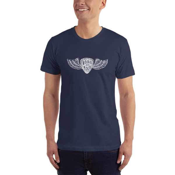 Born To Rock - Unisex T-Shirt - Made in USA - Navy