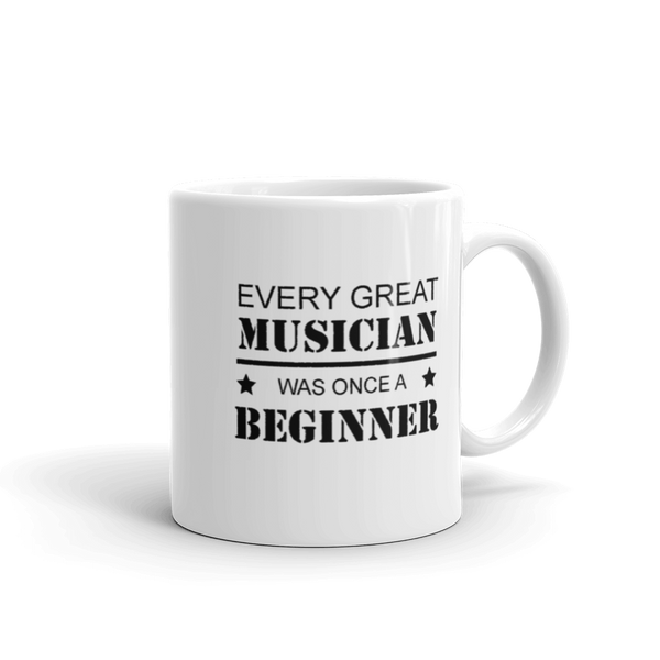 Every Great Musician - Ceramic Mug - 11oz - Right Handed
