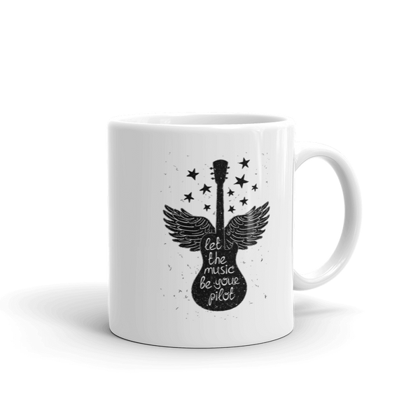 Let The Music Be Your Pilot Ceramic Mug