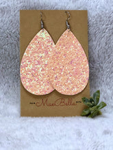 Faux Leather Glitter Earrings - Nastiya