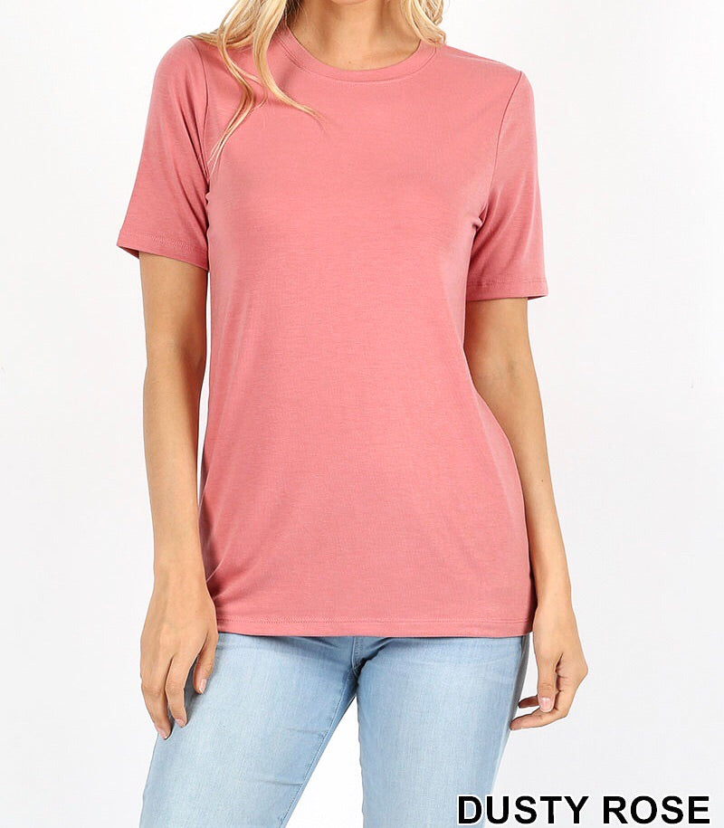 Rose Short Sleeve Round Neck Tee - Nastiya
