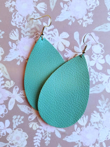 Teardrop Leather Earrings - Nastiya