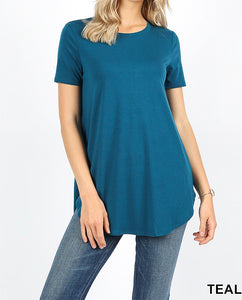 Livie Short Sleeve Round Hem Top - Nastiya