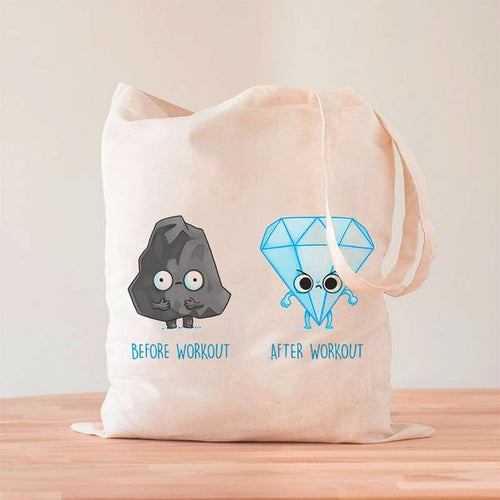 Before After Workout Tote Bag