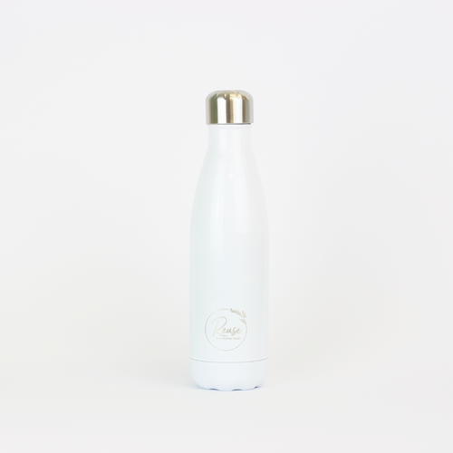 Stainless Steel Water Bottle Matte White
