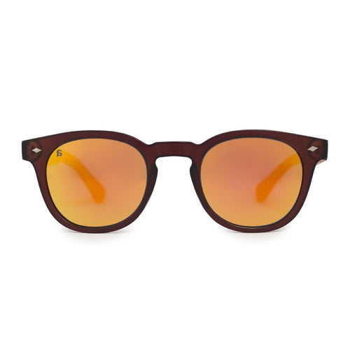 PE34 Oak Brown Mirror Sunglasses