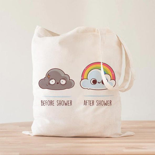 Before After Shower Tote Bag