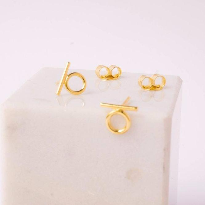 KB185 La Femme Earrings Gold