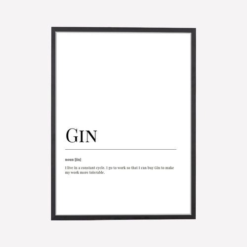 Gin Dictionary Art Print