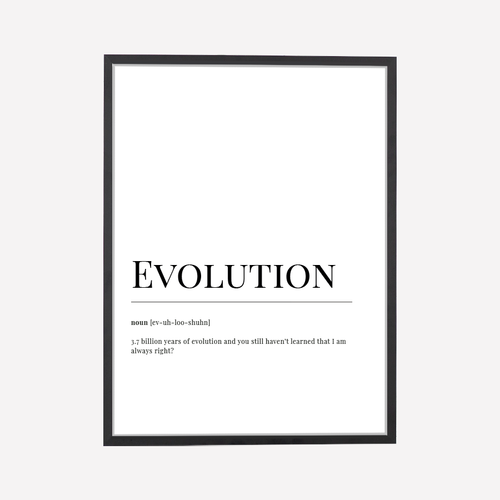 Evolution Dictionary ArtPrint