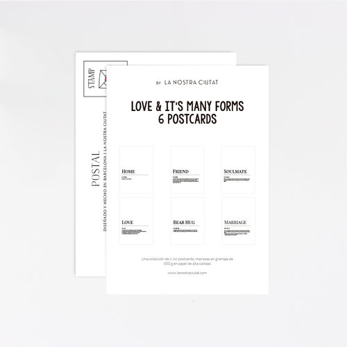 Love & its many forms Postcard Pack