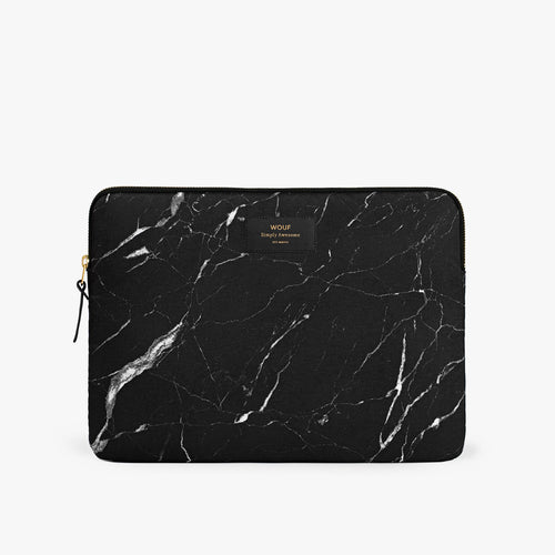 Laptop Sleeve Black Marble 13 Inches
