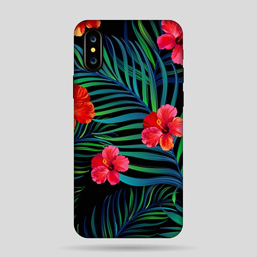 Funda Tropical Flor Roja I X