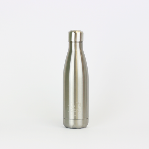 Stainless Steel Water Bottle Shiny Silver
