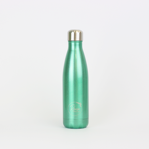 Stainless Steel Water Bottle Shiny Mint