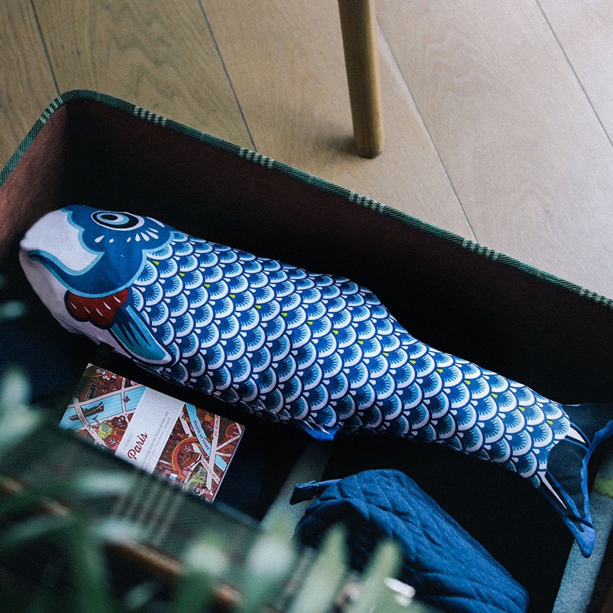 Koinobori Travel Laundry Bag Blue