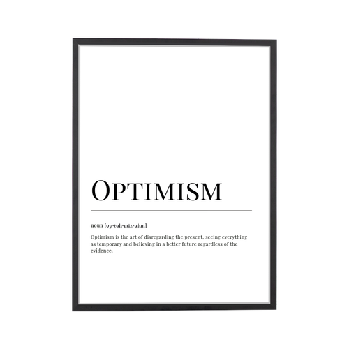 Optimism Dictionary Art Print