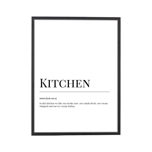 Kitchen Dictionary Art Print