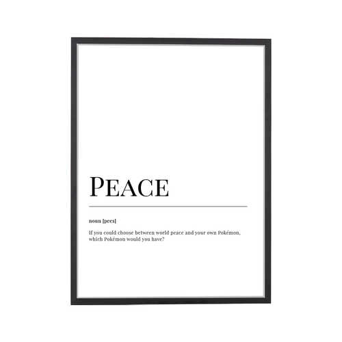 Peace Dictionary Art Print