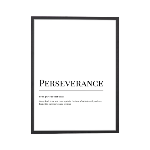 Perseverence Dictionary Art Print