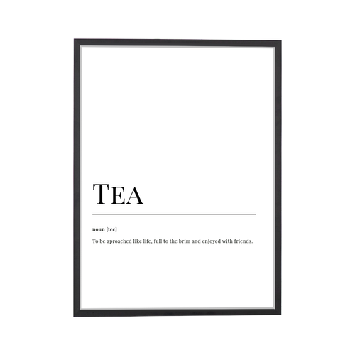 Tea Dictionary Art Print