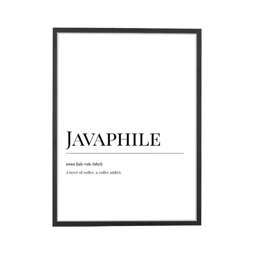 Javaphile Dictionary Art Print